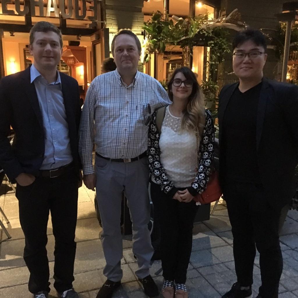 Alan Leite, Carl Viel, Renata Toledo e David Baek